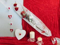 Busta H 16 x 100 stampa cuori Articolo per San Valentino - Sconti per Fioristi e Aziende