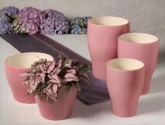 Vasi in ceramica smaltata lucida Serie da 2 o 3 vasi - Sconti per Fioristi e Aziende