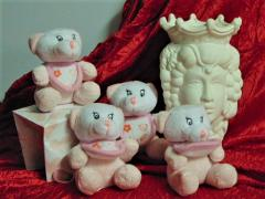Orsetto rosa H 10 con sacchetto - Sconti per Fioristi e Aziende