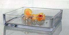 Ciotola quadrata cm.19x19 H 7 in vetro mod. Jacob - Sconti per Fioristi e Aziende