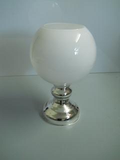 Vaso   Tondo in vetro bianco