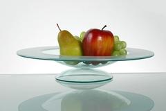 Fruttiera cm 34 in vetro satinato  in vetro satinato  Mod. Torino