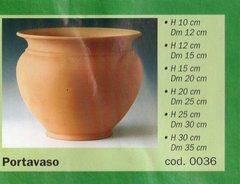 Porta vaso in terracotta  a partire da conf. da 12 vasi