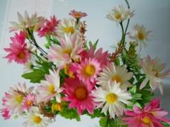 Margherite Bush x 12 in poliester per fioristi e wedding