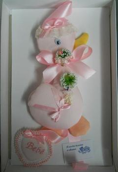 Fiocco nascita Ochetta Rosa
