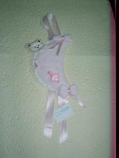 Fiocco nascita Luna Ciniglia Rosa
