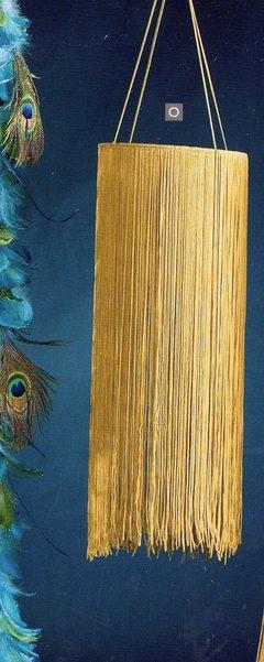 Lampione pendente   a fili di cotone Verde