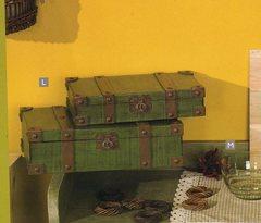 Bauli verdi x 2 in legno
