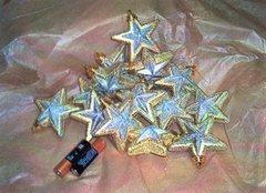 Stelline x 16 Argento   bordi oro - Sconti per Fioristi e Aziende