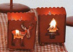 Lumino Cubo  in Latta rossa 2 modelli