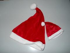 Cappellino Babbo Velluto in velluto rosso 2 misure