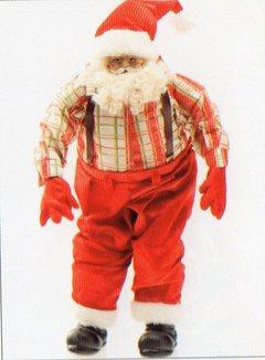 Babbo Natale H 30  Rosso Modellabile
