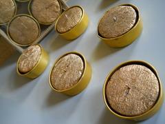 Candele dolcetti  x 6 oro