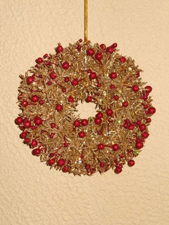 Coroncina Berry Wreath Oro cm. 18 per fioristi e wedding