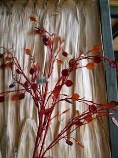 Ramo foglie cristal H 96