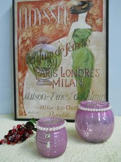 Vasetto Porta candela in vetro Lilla in 2 modelli - Sconti per Fioristi e Aziende