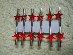 Mollettine stelline x 12    in vetro 4 colori