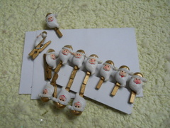 Mollette x 12 babbo Natale  bianco