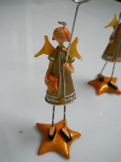 Angeli Oro  segnaposto  alti cm. 21