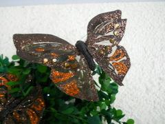 Farfalle x 12 Bronzo  Brillante cm. 18 x 11