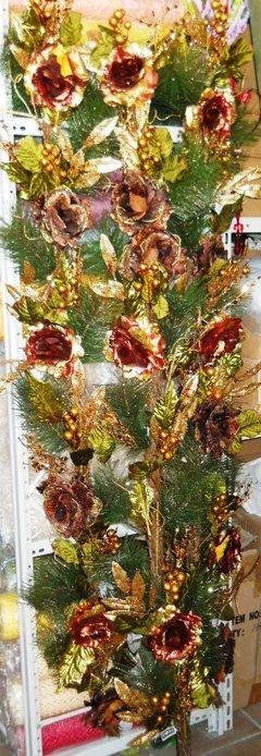 Festone H 180 di rose lamè