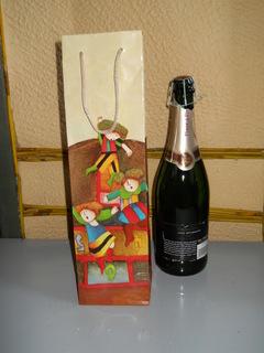 Porta Bottiglia Stampato lato 10x10 alto cm. 36   lato 10x10