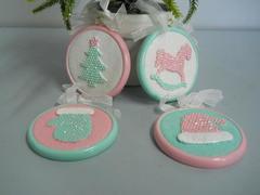 Medaglioni Sweet Candy x 4 da appendere in 4 modelli
