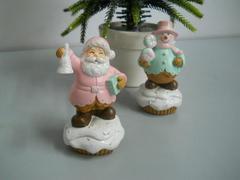 Babbo Natale e Pupazzo Neve alti cm. 9 in resina