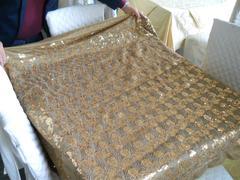 Drappo con paillettes Oro  cm. 140 x 300