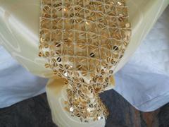 Fascia Centrotavola Oro  cm. 13 x 180 c/paillettes oro