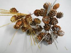 Pignette steccate x 6  glitterate  Oro o Argento