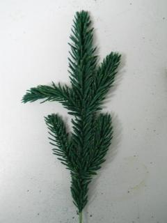 Rametto Abete Floccato  lungo cm.30  color verde