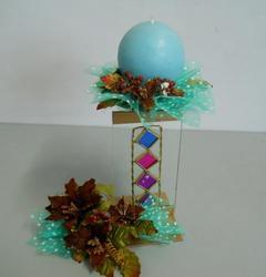 Alzata portacandela   con candela  in 2 misure