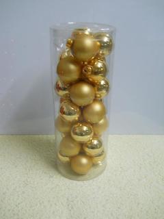 Palline vetro mm. 60  color oro Box da 28 pezzi