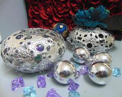 Silver Ball  in metallo  traforato