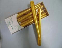 Candela conica Oro H 25  Confezione 10 pezzi