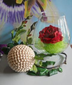 Coppa Cognac H 22 dm.18 in vetro - Sconti per Fioristi e Aziende
