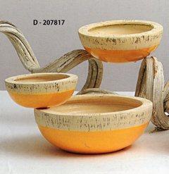 S/3 Ciotole  in ceramica Linea bicolore