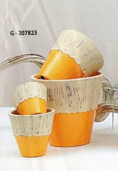 S/4 Vasi in ceramica  Linea bicolore