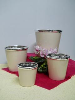 Portavasi x 4 in Ceramica   in 2 Modelli