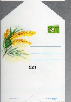 Bigliettini Telegramma x 100  stampa mimosa per fioristi e wedding
