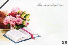 Bigliettini Condoglianze x 100 con busta per fioristi