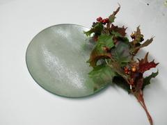 Piatto in vetro   Argento cm. 25