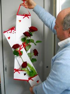 Busta per rose H 70 con tasca  Conf. da 10 buste