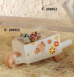 Cariola in terracotta decorata - Sconti per Fioristi e Aziende