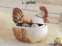 Gallo Contenitore terracotta  con coperchio per fioristi e wedding e pasticceri
