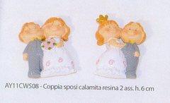 Coppia sposi H 6 con calmita  in 2 modelli