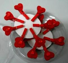 Mollette cuoricini x 14  in feltro