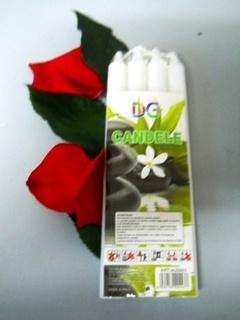 Candele coniche H 17  confezione da 4 candele