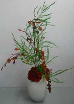 Vaso ovale H 22 in vetro  bianco satinato